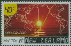 NZ SG2310 40c Millennium Series (6th issue) Sunrise and World Map